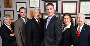 From left: Robert R. MacDonald, MD; Benjamin M. Conoyer, MD; J. Michael Conoyer, MD; J. Matthew Conoyer, MD; Karen E. Boone, MD; and Martin L. Willman, MD.