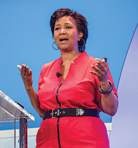 Keynote speaker and former astronaut Mae C. Jemison, MD