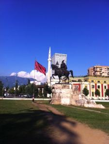 Skanderbeg Square in Tirana.