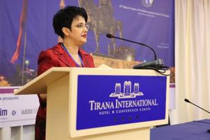 Suela Salavacci, MD, PhD, president of the Albanian and Balkan Societies of Otolaryngology–Head and Neck Surgery.