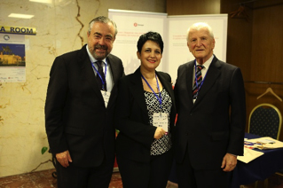 Dan Fliss, MD, Todor Karchev lecturer; Suella Salavacci, MD, PhD, Congress president; and Eugene N. Myers, MD.