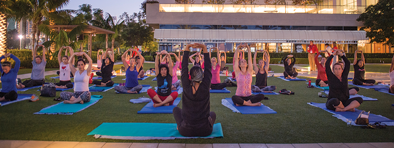 The WIO Sunrise Yoga session at the Annual Meeting was an inspired way to energize the mind and body for sustained performance through the day.