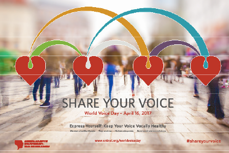 Download this 2017 World Voice Day Poster to hang in your waiting room. http://www.entnet.org/worldvoiceday