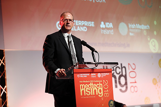 Dr. Douglas D. Backous as a keynote speaker at MedTech Rising in Cork, Ireland, December 2018